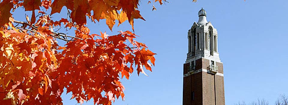 South Dakota State University Campanile Fall